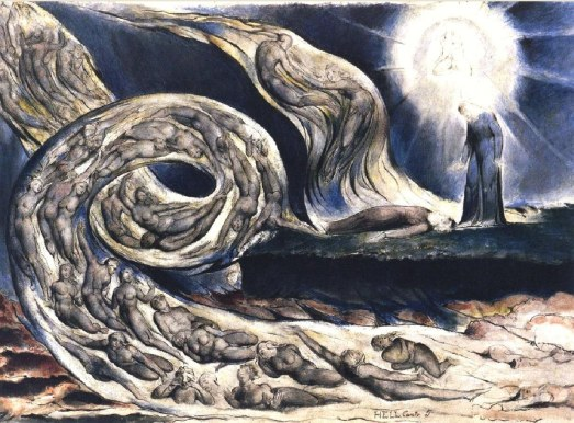 The Lovers' Whirlwind illustrates Hell in Canto V of Dante's Inferno