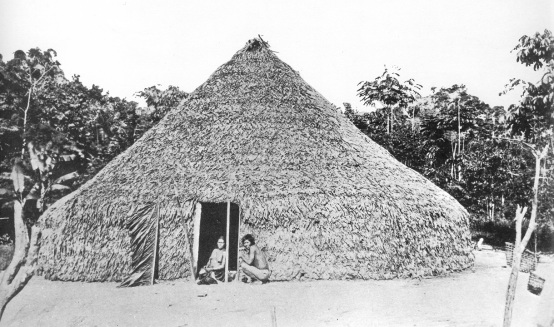 076 Rund-Maloca der Tukuna, NW-Brasilien